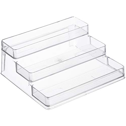 Home Intuition 3-Tier Spice Rack Kitchen Pantry Step Shelf Cabinet Organizer Clear 1