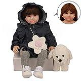 DragonPad Poupon Reborn, 60 cm Silicone Reborn Baby Poupées Baby Doll Alive Réaliste Bebes Jouet Réalité Fille Cadeau de Noël pour Âge 3 Boy Girl Jouet