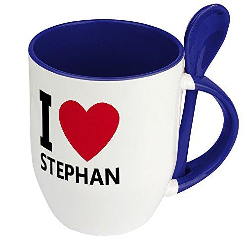 Namenstasse Stephan - Löffel-Tasse mit Namens-Motiv