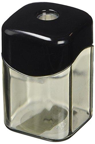 M + R 709230000 Spitzer eckig Mg einfach Dosenspitzer, schwarz/rauch, silber, 4004627180639