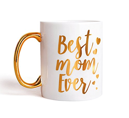 Engraved Gold Best Mom Ever Coffee Mug