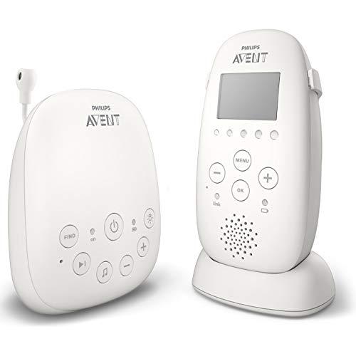 Philips Avent DECT Babyfoon - Nachtmodus en trillingen - 330 Meter bereik - 18 Uur draadloos te gebruiken - DECT technologie voor veilige verbinding - Temperatuursensor - Helder geluid - SCD723/26