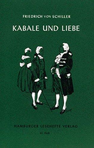 Hamburger Lesehefte, Nr.61, Kabale und Liebe
