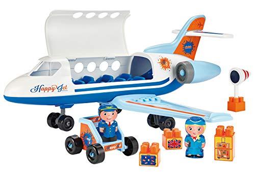 Jouets Ecoiffier- Abrick-Happy Jet-2 Personnages + Accessoires-Dès 18 Mois-Fabriqué en France, 3155