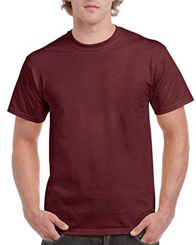 Gildan G2000 - Camiseta para Hombre, Granate, Large