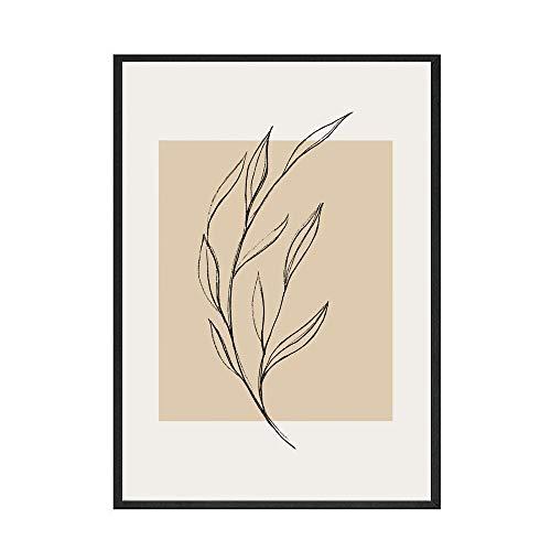 Pintura Retro Matisse Picasso lienzo póster arte de la pared imagen de planta abstracta sala de estar hogar pintura de lienzo sin marco A 60x90cm