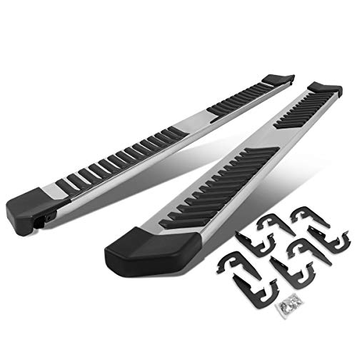 6 Inches Side Step Nerf Bar Running Boards Compatible with Ford F150 Crew Cab 04-14, Stainless Steel, Silver Painted Finish