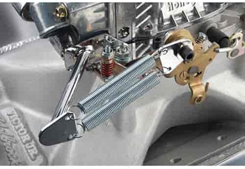 JEGS Chrome Throttle Return Free shipping on posting reviews Spring Kit 4-Bar Holley 2 OFFicial and Fits