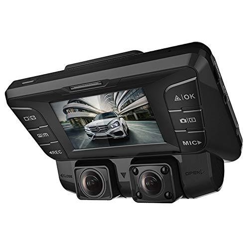 4K - 2880×2160P Dashcam Auto,2,7In Full HD WiFi Dual Lens Vorne&Hinten Autokamera mit HDR&WDR Nachtsicht&Akku&G-Sensor Parkmonitor&Bewegungserkennung für Parküberwachung,mit 256 GB SD Karte