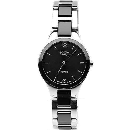 Boccia dameshorloge titanium keramiek zwart 3306-02