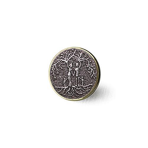 bab Amuleto Vikingo Árbol de la Vida Colgante Collar Árbol de la Familia Cadenas Nórdicas Collares Madre Niños Joyería Femme Collier Broche Literario