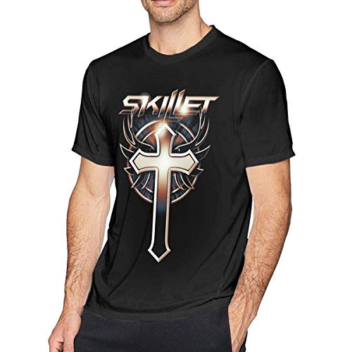 T-FASHION Skillet Männer Kurzärmeliges, weiches T-Shirt Neuheit Musikdruck T-Shirt
