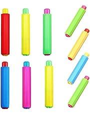 10 Pz Porta gessi, Cornice in gesso Regolabile, Clip del Gesso dell'Insegnante Custode del Gesso Ininterrotta per Insegnanti, Pittura e Scrittura per Bambini - 9 × 1,8cm (Colore Casuale)