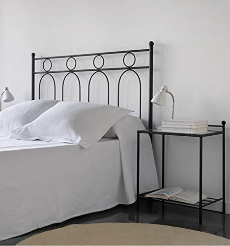 Cabecero de forja Leandro - Azul 33, Cabecero para colchón de 150 cm