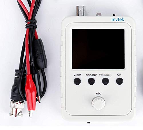WisTek DSO Shell Oscilloscope Full Assembled with BNC-Clip Cable Probe, 1MSa/s, 0-200KHz, 5mV/div Sensitivity and 2.4-inch Color TFT Display