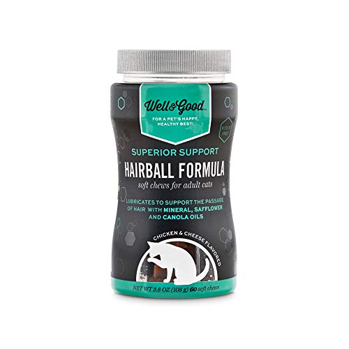 Well & Good Superior Support Hairball Formula Soft Chews for Adult Cats, Count of 60, 3.8 OZ