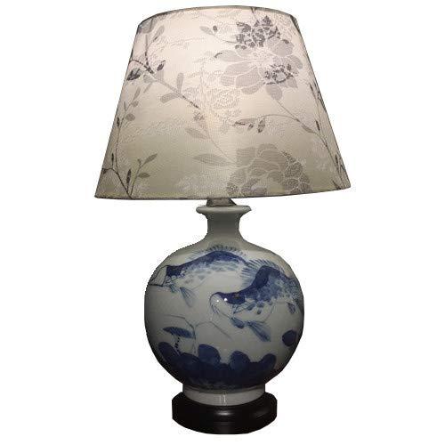 Fine Asianliving Lámpara de mesa de Cerámica China Oriental con pantalla Jingdezhen...