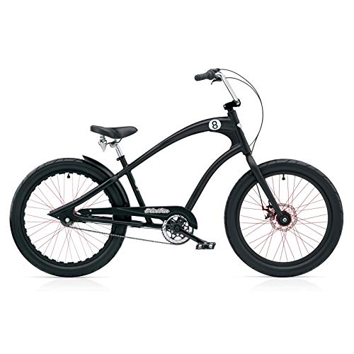 Electra Straight 8 8i Men Black Satin DISC Cruiser, 268213