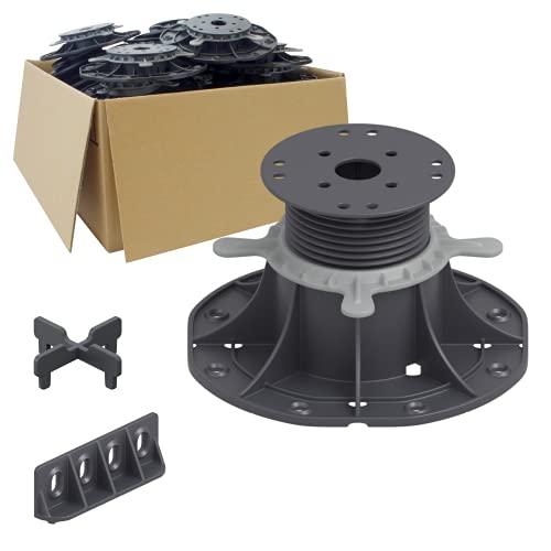 25 Stück Trevendo® Universal Stelzlager & Plattenlager XL 70-120 mm für Holz, WPC und Stein