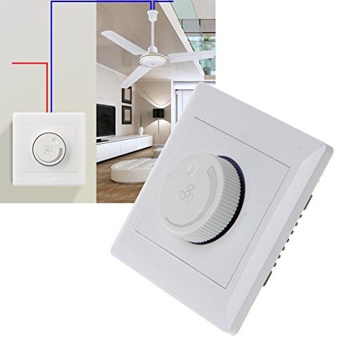 BIlinli 220V 200W Ajuste Interruptor de Control de Velocidad del Ventilador de Techo Botón de Pared Regulador del Interruptor