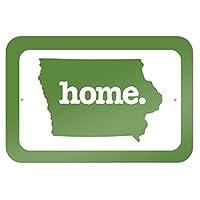 """アイオワ州アイオワ州ホーム州 9"""""""" x 6"""""""" 符号 - 固体緑"""