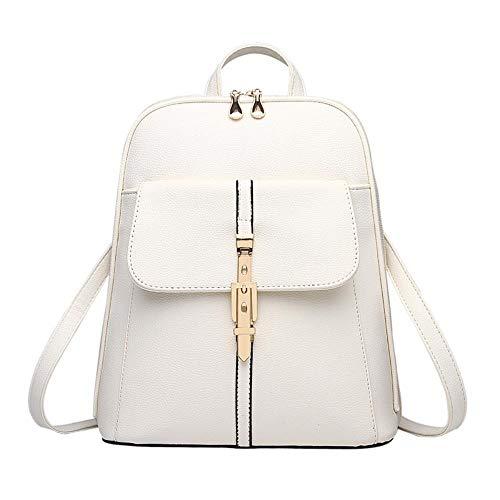 Monster Rugzakken vrouwen rugzak schooltassen studenten rugzak dames vrouwen reistassen leren pakket Wit