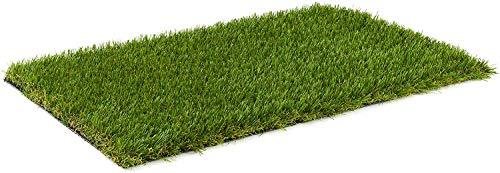 Kunstrasen Rasenteppich Komodo für Garten - Florhöhe 35 mm - Gewicht ca. 2736 g/m² - UV-Garantie 12 Jahre (DIN 53387) | Rollrasen | Kunststoffrasen 2 x 2