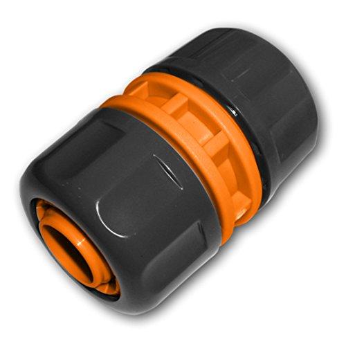 Bradas ECO-PWB2112 1 ZollSchlauchverbinder Reparator Verbindungsstück Schlauchanschluss, Schwarz, 4x2x2 cm