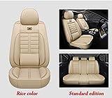 LUOLONG Car Seat Cover, Housse de siège de Voiture Universel pour BMW E30 E34 E36 E39 E46 E60 E90 f10 f15 f20 f30 G30 x1 E84 x5 E53 E70 E87 E83 x3 Protecteur Siège Auto Standard Beige