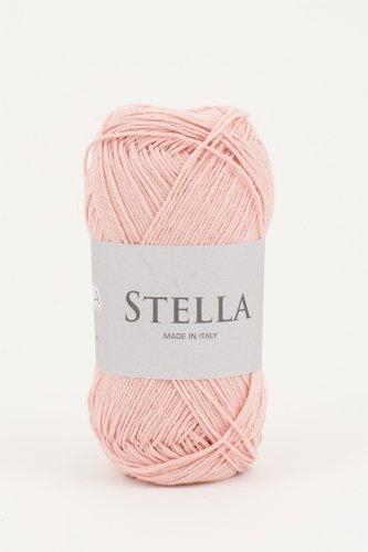 Ophelia Italy Stella - Gomitoli di cotone 50g filato lineare 100% cotone (005 Rosa baby)