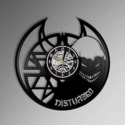 KDBWYC Reloj de Pared de Vinilo perturbador, diseño Exclusivo de música para niños o Hombres, decoración para Sala de Estar, Banda de Club, Cantante Principal