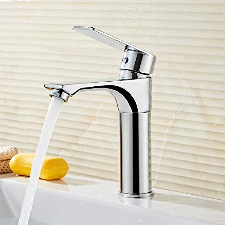 Faucet hot and Cold Copper Bathroom Bathroom wash Basin Sink redating Telescopic Faucet Copper Plating