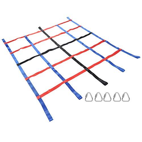 TANKE Al aire libre colorido correas escalada red entrenamiento físico fitness niños deportes jugar 185x145cm
