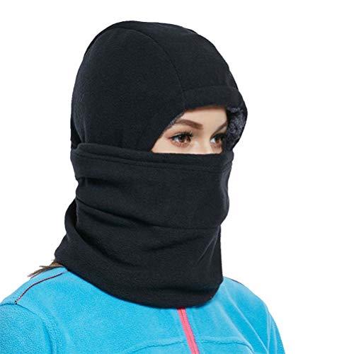 BESPORTBLE Sturmhaube Gesichtsmaske Winter Warme Kopfbedeckung Plüsch Samtkappe Schnee Skifahren Radfahren Vollmaske für Erwachsene Männer Frauen, Schwarz