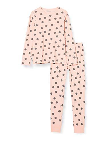NAME IT Mädchen NKFNIGHTSET Strawberry Cream DOT NOOS Pyjamaset, 122-128