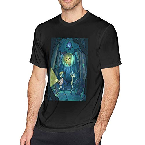 Ljkhas2329 Gra-vity Falls Men's Cool T-Shirt Black