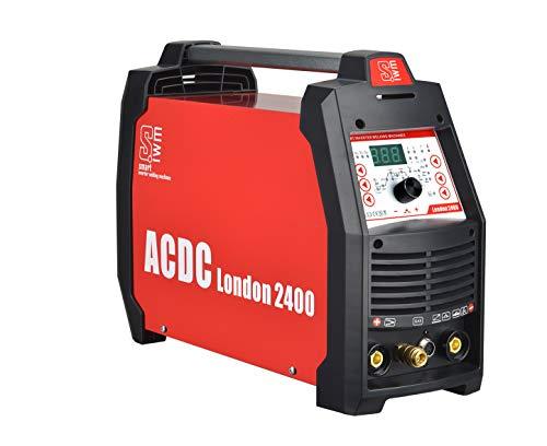Vector Kombi Inverter Schweißgerät AC/DC WIG TIG Puls mit 200 Ampere Stahl/Edelstahl/ALU Schweißen, HF-Zündung IGBT Elektroden Schweißmaschine MMA E-HAND Inverter Welder – London 2400