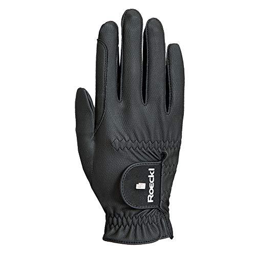 Roeckl Roeck Grip Pro Handschuh, Unisex, Reithandschuhe, Schwarz, Größe 7,5