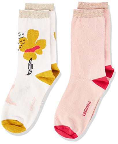 Catimini Mädchen Cp93045 Lot Chaussettes Socken, Elfenbein (Ecru 11), 13-14 Jahre (Herstellergröße: 39/42)