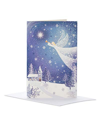 Deluxe Angel Christmas Boxed Cards and White Envelopes, 14-Count