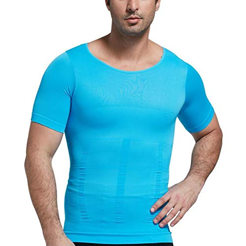 SHANGXIAN Herren Shapewear Kompression Hemd Nahtloses Abnehmen Bauchkontrolle Body Shaper Weste Unterwäsche Gürtel Unterhemd,H,M