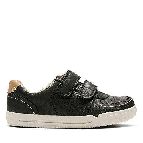 Clarks Mini Ezra, Chaussures Basses pour Garçon - Noir - Noir,