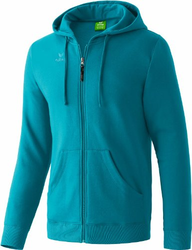 erima Herren Sweatjacke Hooded Jacket, Petrol, L, 207336