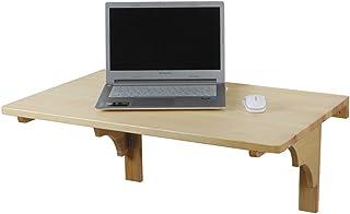 ZYAL Table Pliante Murale, Table Pliante en Bois Massif, Table À Manger, Bureau D'ordinateur Portable Pliable, Bureau D'éc...