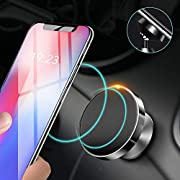 Econobum Magnetic Car Mount, 360° Rotation Magnetic Cell Phone Holder for Dashboard Cell Phone Cradle Mount Compatible with iPhone, Samsung Galaxy and Other Mobile Devices