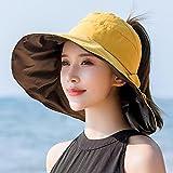 Roshow Gelatina Negra Aspirador Superior Sombrero Sombrero Mujer Verano Grande...