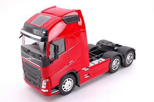 VOLVO FH 3-AXLE 2016 RED 1:32 - Welly - Camion - Die Cast - Modellino