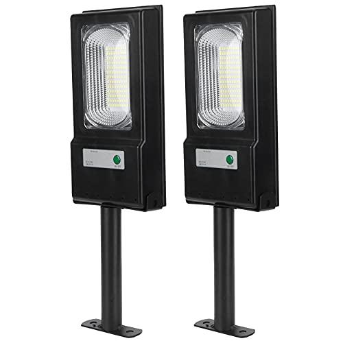 CUTULAMO 50W Highlight Courtyard Light, Panel Solar de polisilicio 117LED Solar Light Batería de Gran Capacidad para Calles para Gargen para plazas Parques para Patios