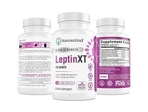 pure leptin supplements NatureGenX - Leptin XT - Leptin Resistance Supplements for Weight Loss -Leptin Hormone Supplements - Vegan - 60 Pills -Leptin Burn for Women