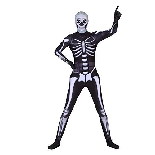 Poptrend Halloween Spandex Zentai Cosplay Costume Skull Trooper Costume Adult (Large)